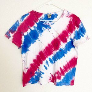 L.L.Bean Tie Dye Top T-Shirt Short Sleeves L
